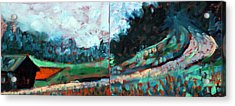 Acrylic Print featuring the painting Old Country Road by Walter Fahmy