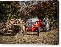 Old Ford Tractor Acrylic Print by Doug Long