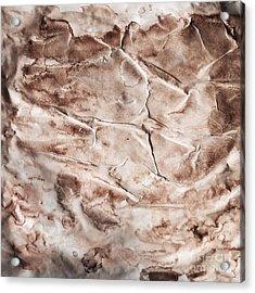 Old Grunge Creased Paper Texture. Retro Vintage Background Acrylic Print by Michal Bednarek