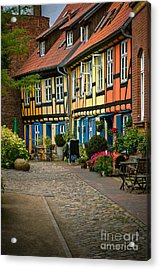 Old Houses At Johannes Kloster Stralsund Acrylic Print by David Davies