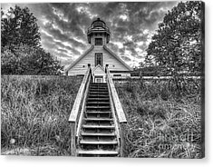Old Mission Lighthouse Acrylic Print by Twenty Two North Photography