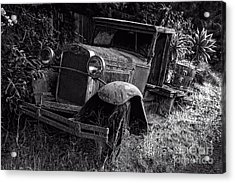 Old Model T Ford In The Jungle Maui Hawaii Acrylic Print