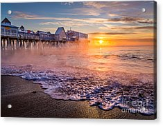 Old Orchard Beach Sea Smoke Acrylic Print