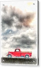 Old Red Ford Pickup Acrylic Print