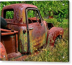 Old Rusty Acrylic Print by Julie Dant