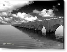 Old Seven Mile Bridge Florida Keys  Acrylic Print