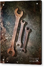 Old Spanners Acrylic Print by Carlos Caetano