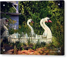 Old Swan Boats In Plaenterwald Berlin Acrylic Print by Art Photography