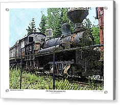 Acrylic Print featuring the photograph Old Train  by Kenneth De Tore