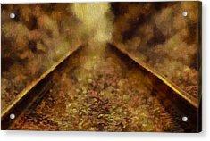 Old Train Tracks Acrylic Print by Dan Sproul