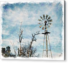 Old West Wind Wheel Acrylic Print