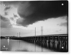 Ominous Cloud Acrylic Print by Phill Doherty