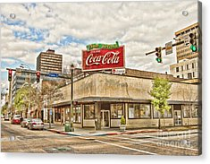 On The Corner Acrylic Print by Scott Pellegrin