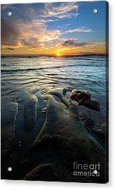 On The Horizon Acrylic Print by Mike  Dawson