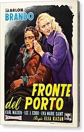 On The Waterfront Aka Fronte Del Porto Acrylic Print