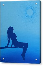 Once In A Blue Moon Acrylic Print by Lance Bifoss