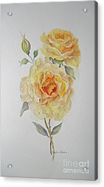 Acrylic Print featuring the painting One Rose Or Two by Beatrice Cloake