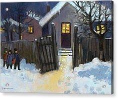 Open Door To Carol Acrylic Print by Tancau Emanuel