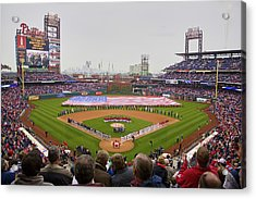 Opening Day Ceremonies Featuring Acrylic Print