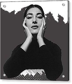 Opera Singer Maria Callas  Cecil Beaton Photo No Date-2010 Acrylic Print by David Lee Guss