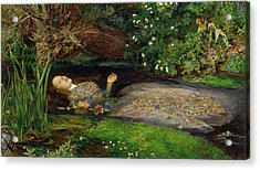 Acrylic Print featuring the painting Ophelia by John Everett Millais