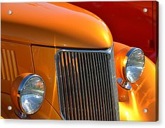 Orange Hotrod Acrylic Print by Dean Ferreira