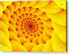 Yellow Pillow Vortex Acrylic Print