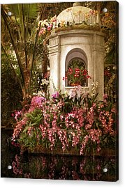 Orchid Garden Acrylic Print by Jessica Jenney