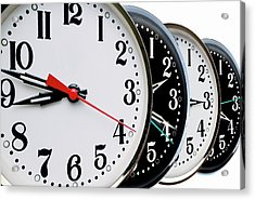 Ordered Clock Times Acrylic Print