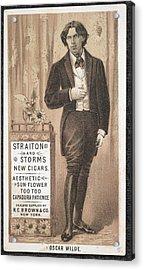 Oscar Wilde Acrylic Print by British Library