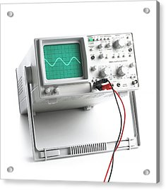Oscilloscope Acrylic Print by Science Photo Library
