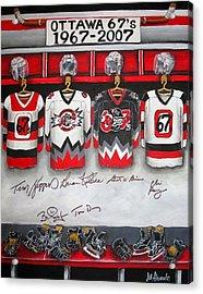 Ottawa 67's Coaches Acrylic Print by Jill Alexander