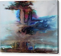 Acrylic Print featuring the painting Out Of The Mist by Mary Sullivan