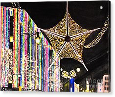 Acrylic Print featuring the painting Oxford Street London 2011 by Carol Flagg