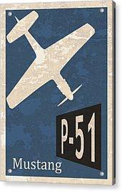 P-51 Mustang Acrylic Print by Mark Rogan