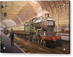Paddington Arrival. Acrylic Print by Mike  Jeffries