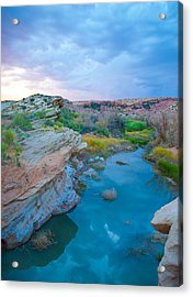 Painted River Gorge Acrylic Print by Sarah Crites