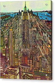 New York Mid Manhattan 1971 Acrylic Print