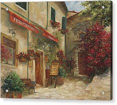 Panini Cafe' Acrylic Print by Chris Brandley