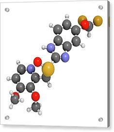 Pantoprazole Gastric Ulcer Drug Molecule Acrylic Print by Molekuul