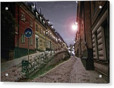 Paper Route Acrylic Print by David Fox