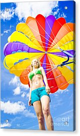 Parasailing On Summer Vacation Acrylic Print
