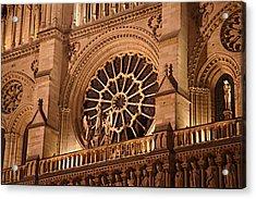 Paris France - Notre Dame De Paris - 01134 Acrylic Print by DC Photographer