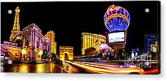 Paris On The Strip Acrylic Print by Az Jackson