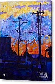 Parking Lot Sunset Acrylic Print