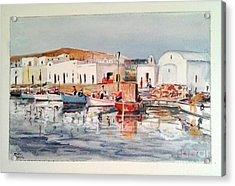 Paros-naousa Acrylic Print by George Siaba