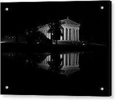 Parthenon Puddle Acrylic Print
