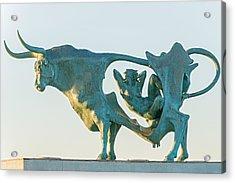 Pasifae  Sculpture By Oscar Estruga. In Vilanova I La Geltru  Acrylic Print