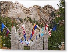 Patriotic Faces Acrylic Print by Mary Carol Story