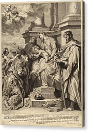 Paulus Pontius, After Sir Anthony Van Dyck Flemish Acrylic Print by Quint Lox